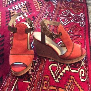 Enzo Angiolini Suede Wedges